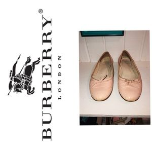 Burberry Pink Bow Leather Ballet Flats Need Love
